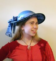 Blue Flat Brim Hat by Goldenspring