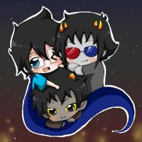 John Sollux and Karkat by Naaruuchan