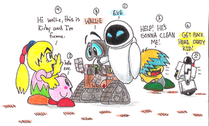 kirby C's meets wall-e C's by PurpleRAGE9205