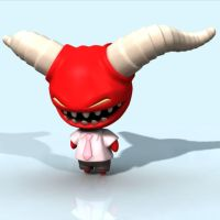 demon kid 3D by cheesyniblets
