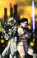 Trooper and Jedi by ArmourWing