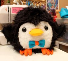 Chubby Penguin plush by loveandasandwich