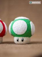 1Up and Super Mushrooms by AradiyaToys by AradiyaToys