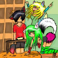 lol xD onii-sama onee-chan and me xD by greenyswolf
