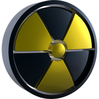 Radiation Symbol 3d Color Dock Icon by climber07