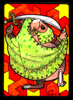 Bellydancing Piggie ACEO 41 by Siobhan68