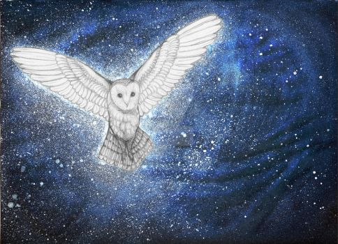 Cosmic Owl... maybe by AvaWikstrom