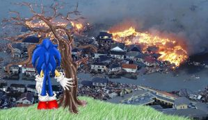 Sonic Weeps for his Country by sonicwindartist