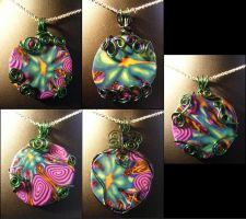 Kaleidoscope Pendants by BacktoEarthCreations