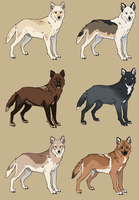 Custom Wolves 3 by Pred-Adopts
