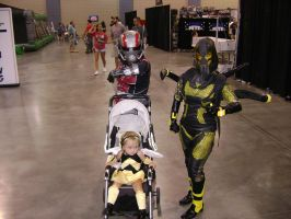 Antman Family cosplay by Robot001