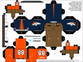 Demaryius Thomas Broncos Cubee by etchings13