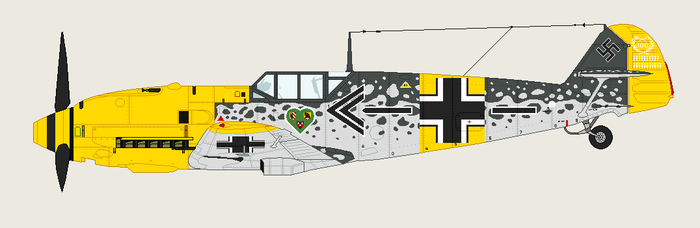 Erich's Messerschmitt by Intuitional-Madness