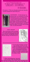 tutorial for lineart by LilianNoel