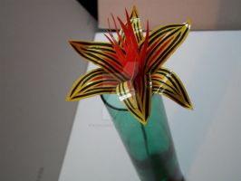 lined lily yellow red black by theforestwalker
