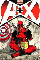 Deadpool sketch cover by Shono