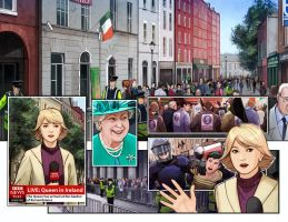 St. Patrick's children double page spread by eleth89
