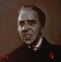 Christopher Lee as Dracula by iconicafineart