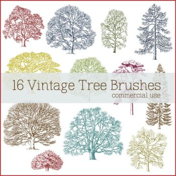 Vintage Tree Brushes by figandlily
