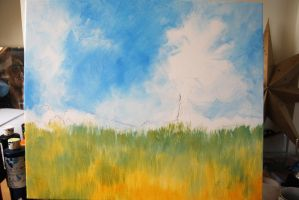 Poppy Field Acrylic 2 by mr-macd