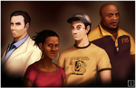 Left 4 Dead 2 Survivors by Operative-Nova-Eagle