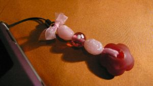 Pink Flower Power Phone Charm by westiepup