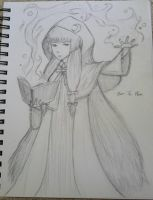 Touhou - Touhouvania Patchouli (sketch) by Shadow-of-Mysteries