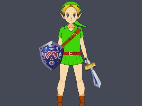 Request - Young Link (Majora's Mask) by Myterritory20