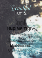 Beautiful Fonts || Agus . by RadiantDay