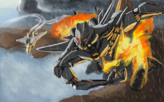 Starscream finished by Mr-Corr