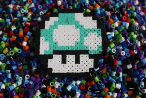 Perler Beads- 1up Mushoom by Puppylover5