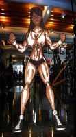 Gina in the gym by RWhitney75