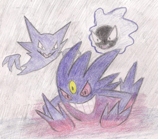 Mega Gengar and its Minions by ToxicWyvern