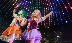 Macross Frontier - Rainbow City by vaxzone