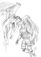 Angel and Soldier by manowolvie