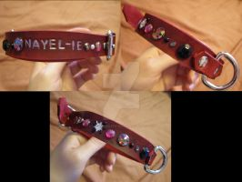 Nayel-ie studded collar by LightningSilver-Mana