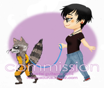 Chibi Commission - Walking Rocket by Alexiel-VIII