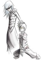 Riku and Roxas - sketch 2 by tythecooldude06