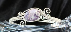 Sugilite Freeform Swirly Cuff by goddessccoa