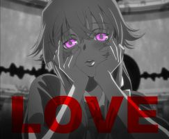 Gasai Yuno Poster - LOVE by RedSoul77