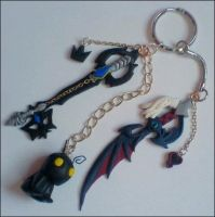 Heartless Keyblade Keyring by Psyfira