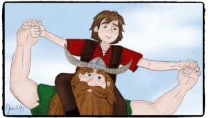Father's Day Stoick And Hiccup by Jenni41