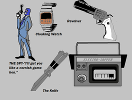 The Spy and Devices -Paint by Aetherartist