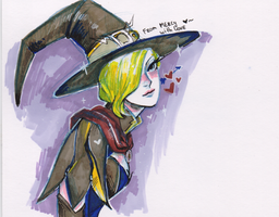 Mercy witch by AntheiaVaulor