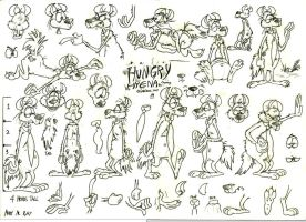 Hungry Hyena model sheet by Granitoons