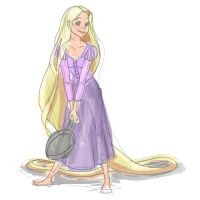 Rapunzel Sketch by siquia
