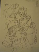 Demoncon2 Dalek vs Cyberman by jollyjack
