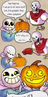 Sans the Halloween Comic by Zinfer