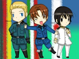 Chibi Axis powers!! by acua-chan