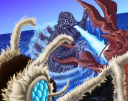 Godzilla vs The Sea Monster by monsterartist